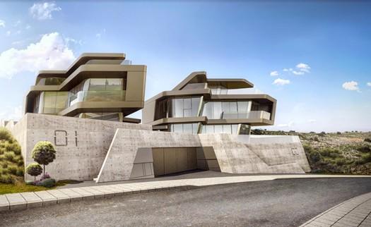 Modern 3 bedroom villa with roof garden for sale