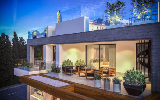 2 Bedroom penthouse with roof garden for sale