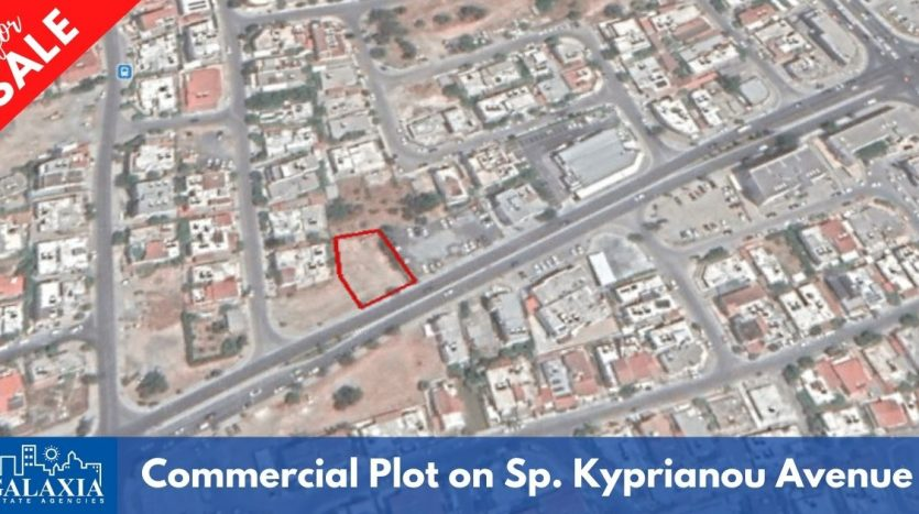 plot for sale on Spyrou kyprianou avenue limassol