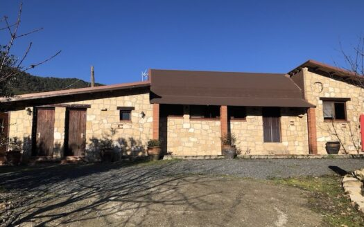 2 bedroom house with a big plot in Foini village